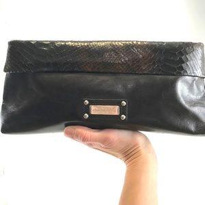 Charles David Brown Leather Clutch Handbag